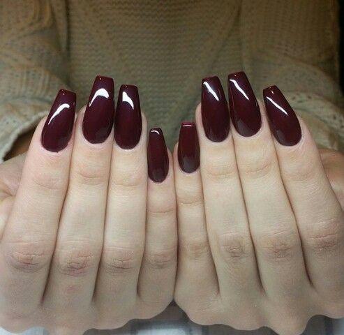 faux ongles gel bordeaux