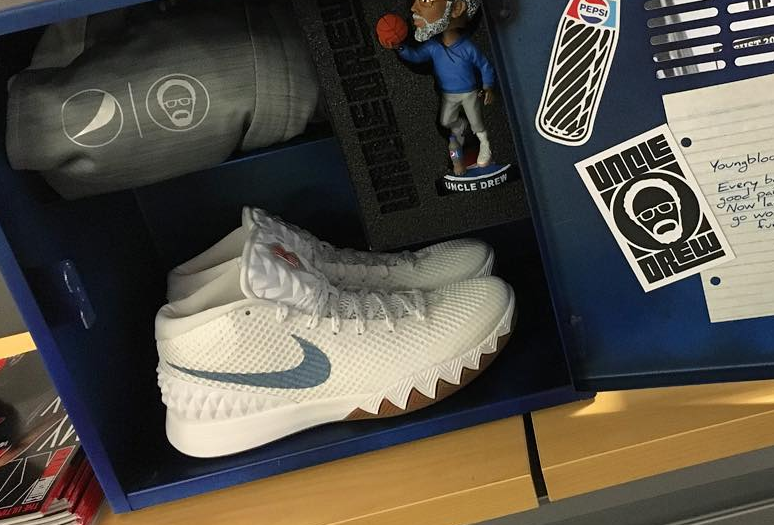 4d3efe970b80 nike kyrie irving 1 uncle drew x pepsi white for sale