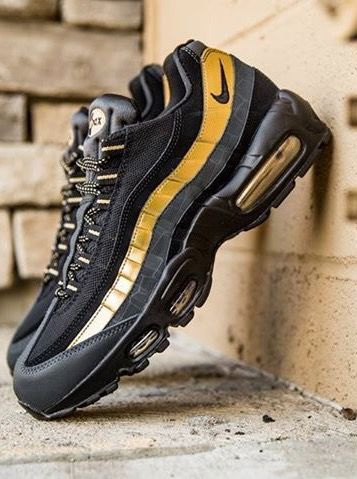 another chance 4eff2 a2658 Nike Air Max 95: Black & Gold | Cool stuff 112 | Nike air ...
