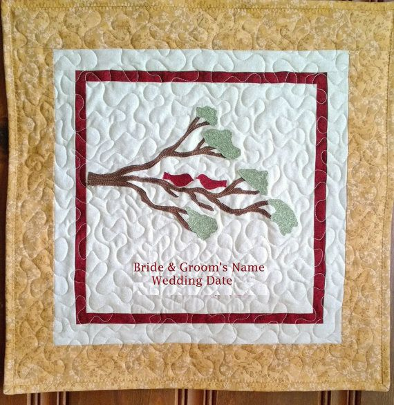 Personalized Wedding Quilt Or Anniversary Quilt Art Quilts
