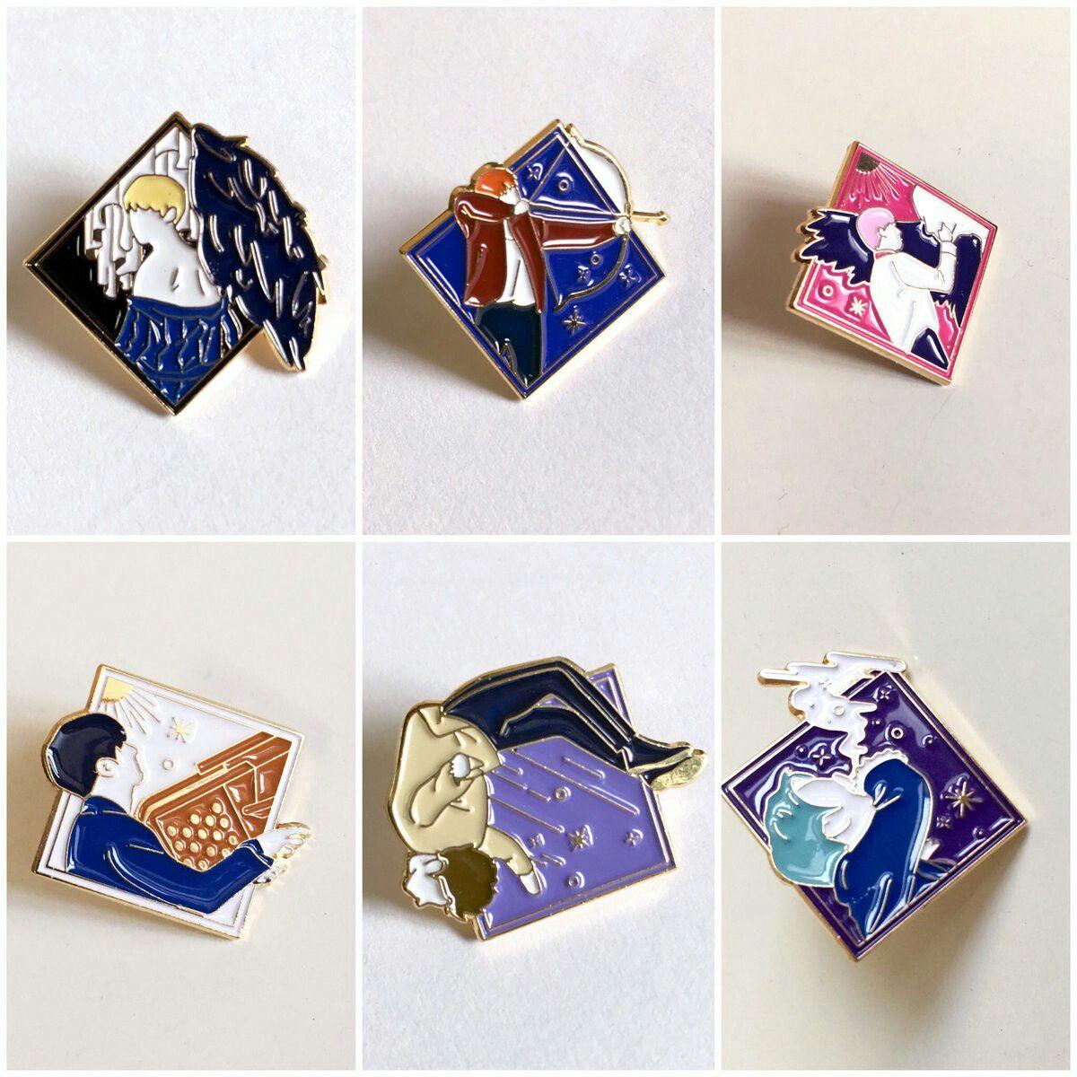 fan made kpop group enamel pins