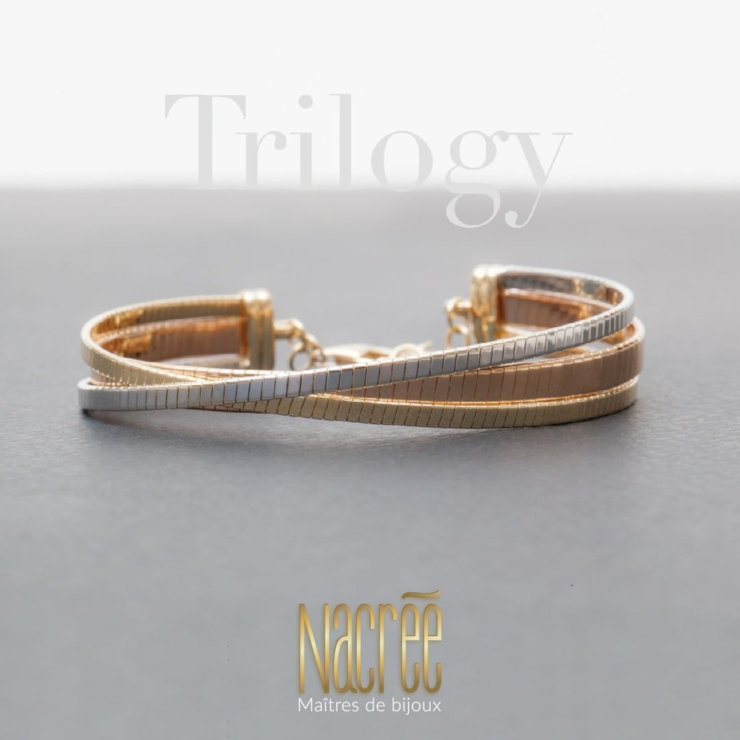 Buy Amazon: /31eDJmn A splendid bracelet that combines yellow, white and rose gold in an exceptionally tasteful Trilogy. ( ) ! Order now on + / +