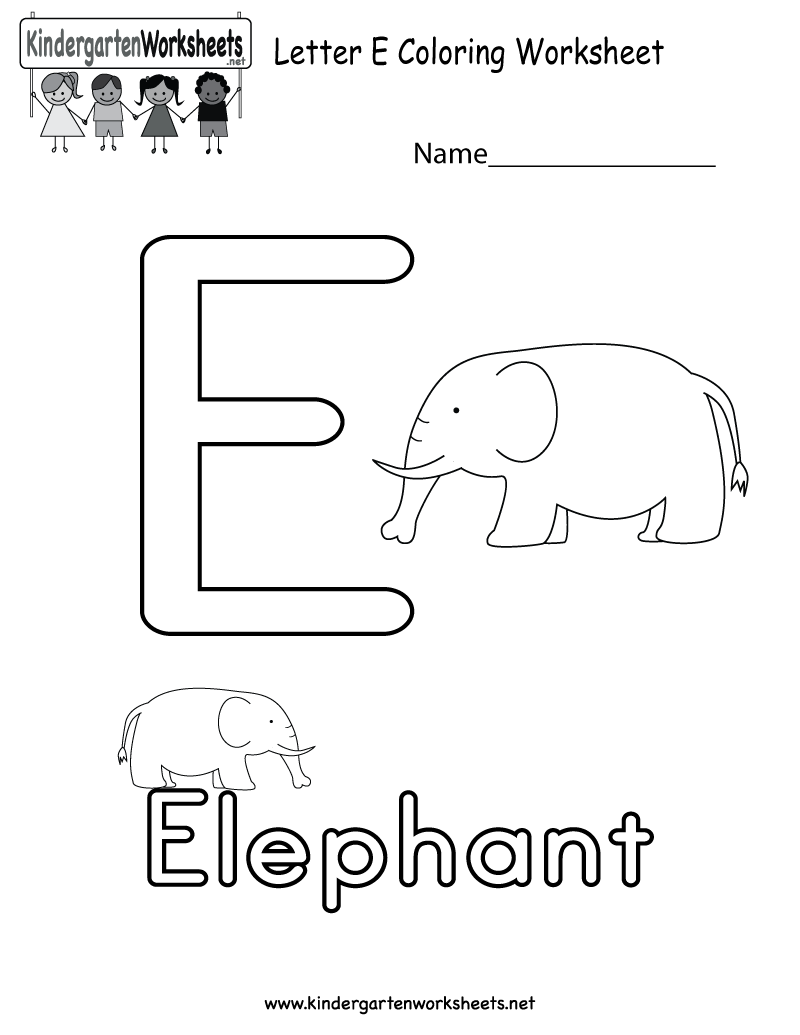 letter e coloring worksheet for kids in preschool or kindergarten this would be a great. Black Bedroom Furniture Sets. Home Design Ideas