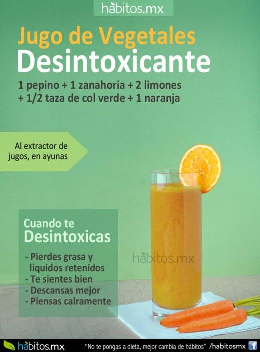 Jugo Para Desintoxicar El Organismo Detox Juice Healthy Detox Cleanse Detox Juice Cleanse