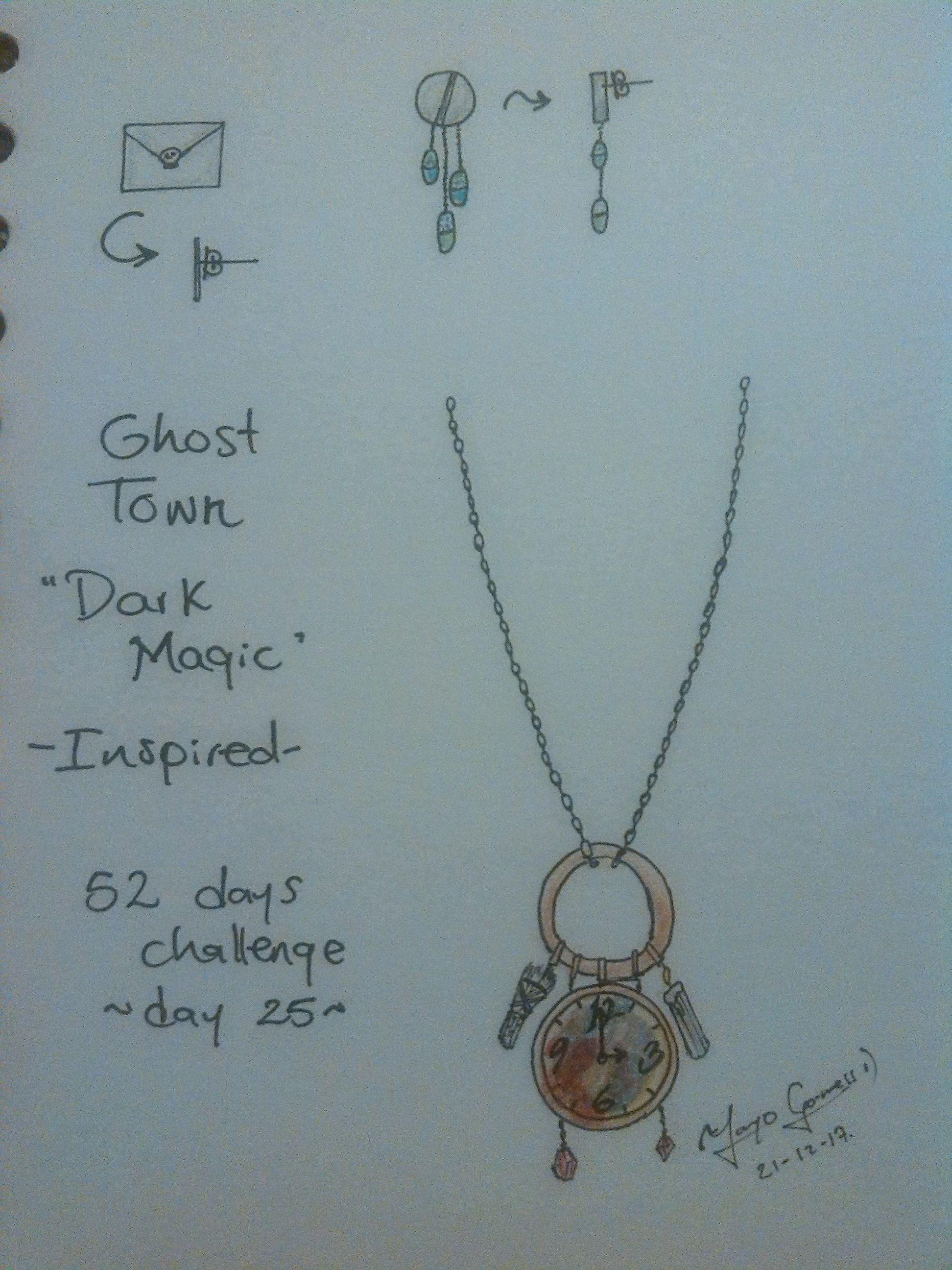 Day 25 Dark magic Lyrics that inspired this set Necklace Light