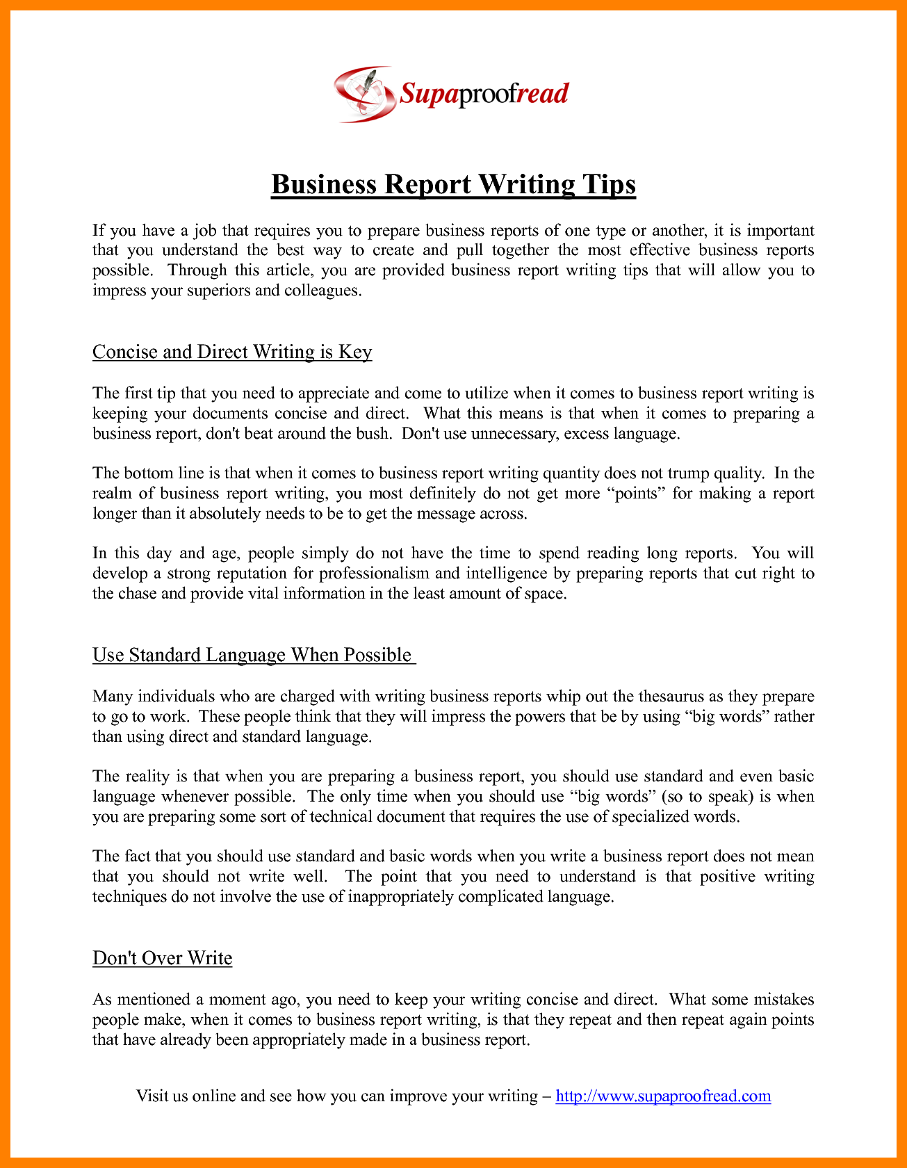 writing sample resume technical writer cover police report tips – Sample of Business Report