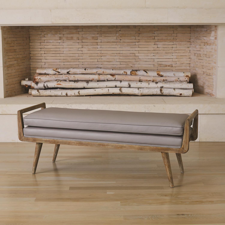Lucas Long Bench Muslin Upholstered Bench Long Bench Decor