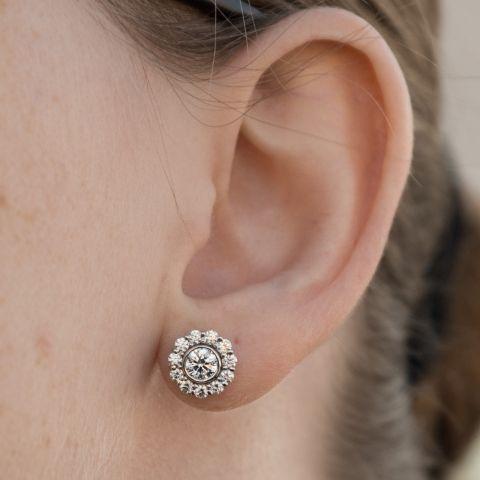 Id Jewelry Bezel Studs Jackets By Tara3056 Diamond Earrings Studs Round Earrings Bezel Diamond Studs