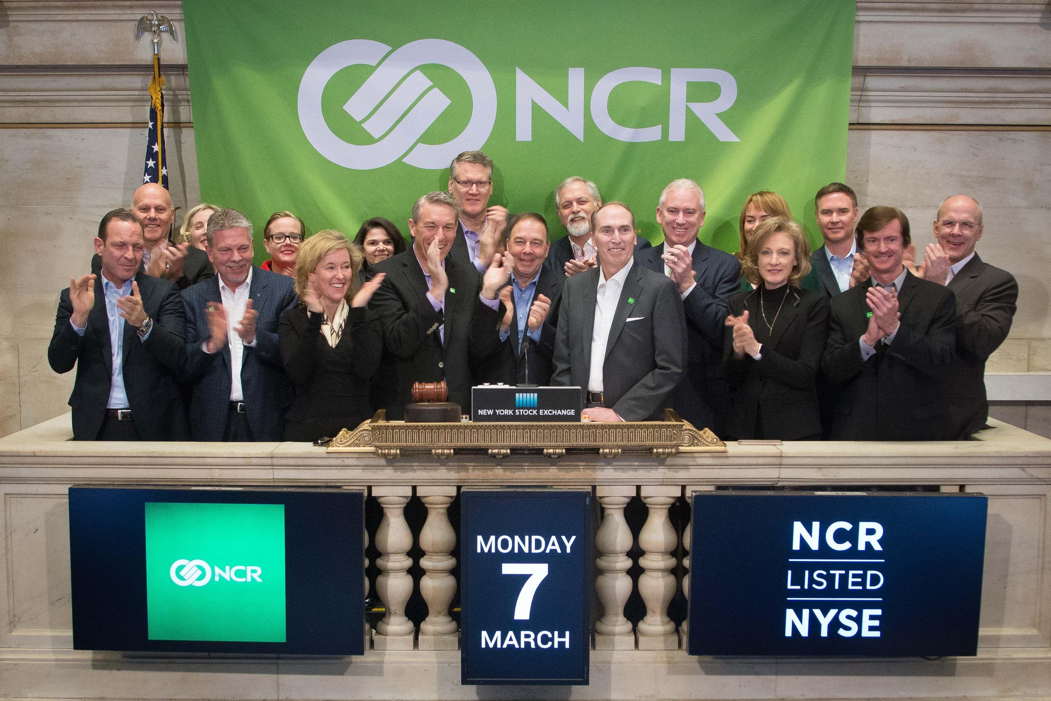 Ncr Corporation Rings New York Stock Exchange Opening Bell Stock Exchange Ncr Corporate