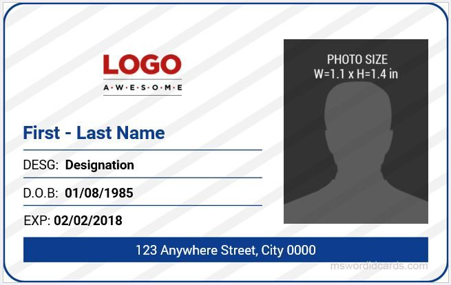 Office Id Cards Download At HttpMswordidcardsComBest