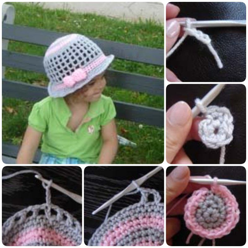 Free Summer Hats to Crochet for Kids - Sun hat