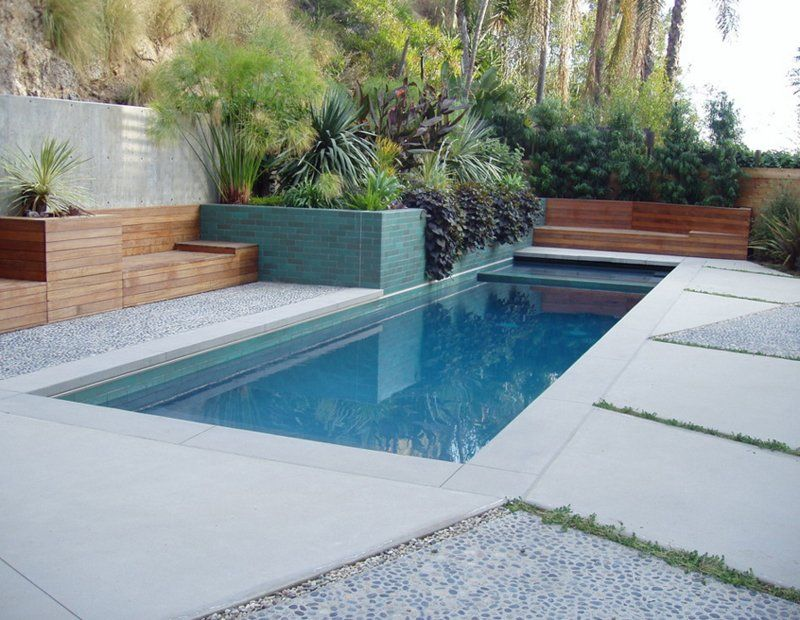 Poolside Planter Backyard Plants Pool Planters Pool Plants
