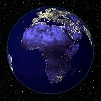 africa map at night