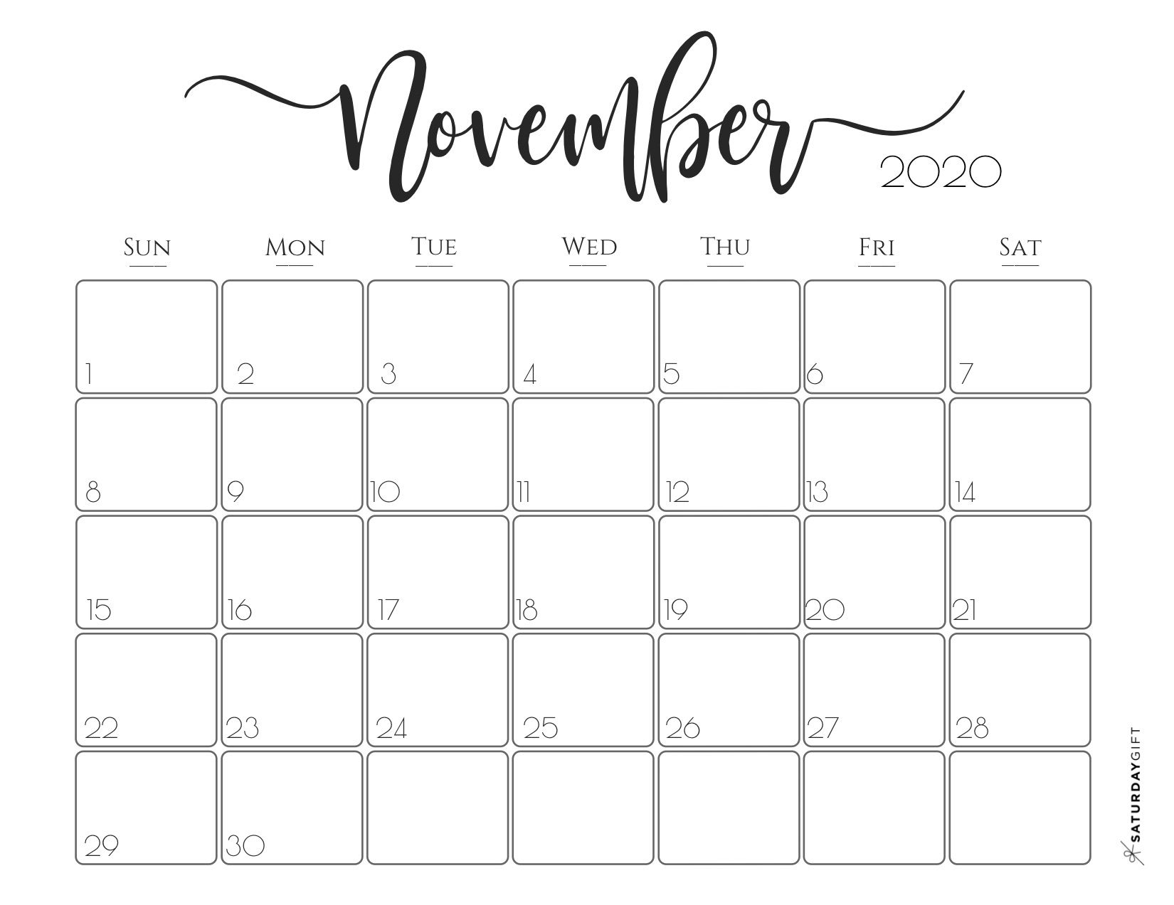 Elegant 2020 Calendar Free Printables In 2020 Free Printable Calendar Calendar Printables Print Calendar