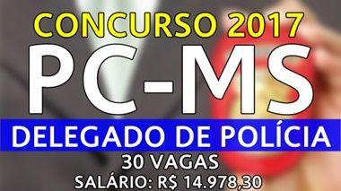 Apostila PC-MS 2017 Delegado de Policia - Opção Apostilas para Concursos