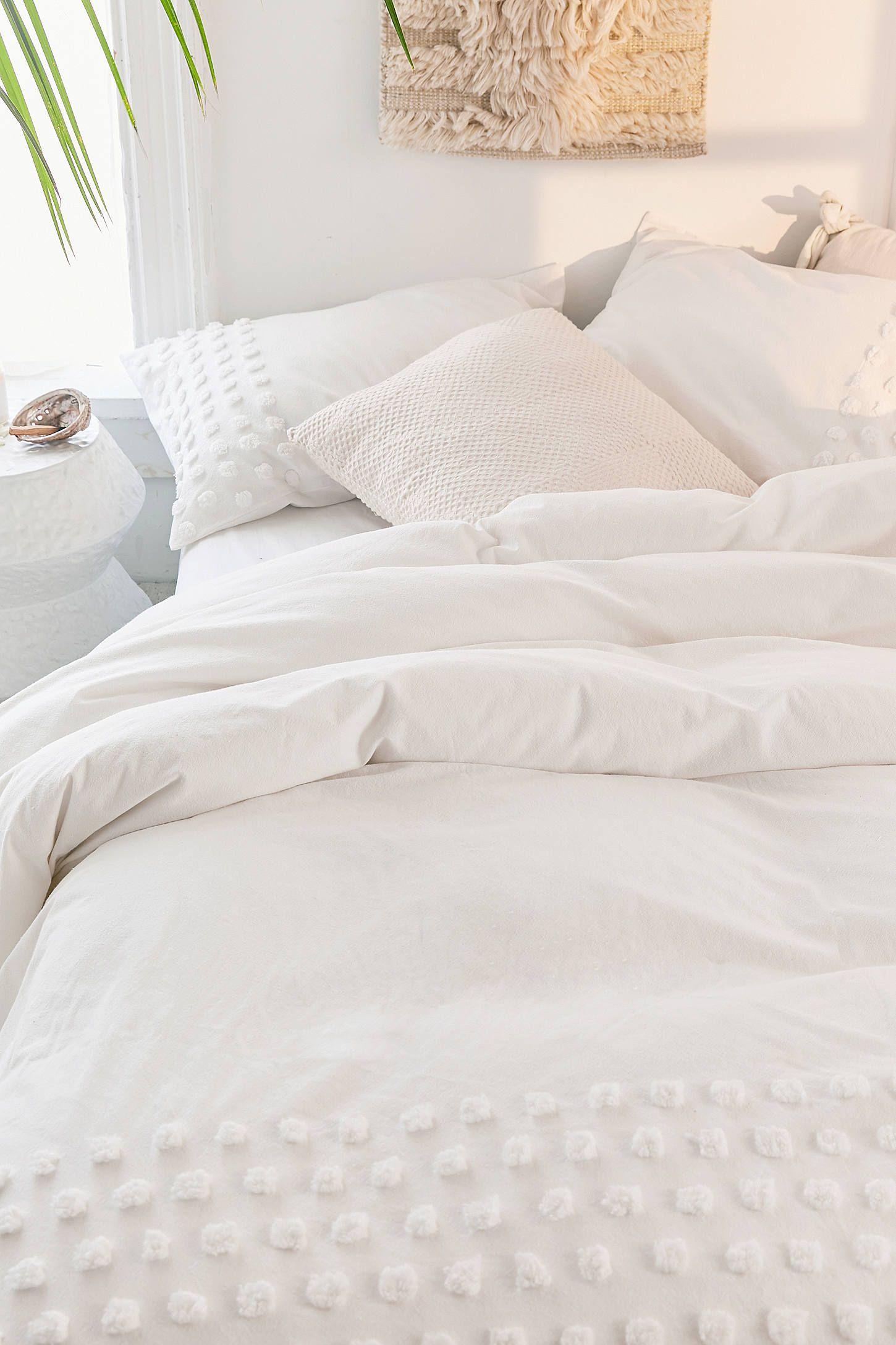 Tufted Dot Duvet Cover White Duvet Bedding White Bed Covers