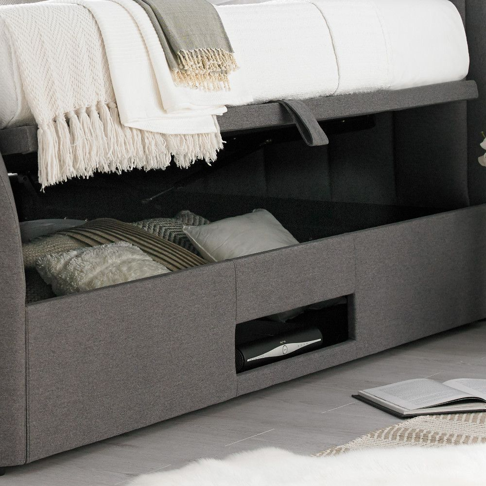 Outstanding Ventura Grey Fabric Ottoman Tv Bed In 2019 Tv Beds Camellatalisay Diy Chair Ideas Camellatalisaycom