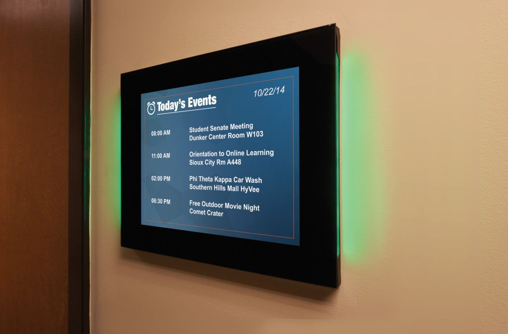 Pin By Nate Labat On Meeting Room Displays Door Signage Interactive Kiosk Room Display