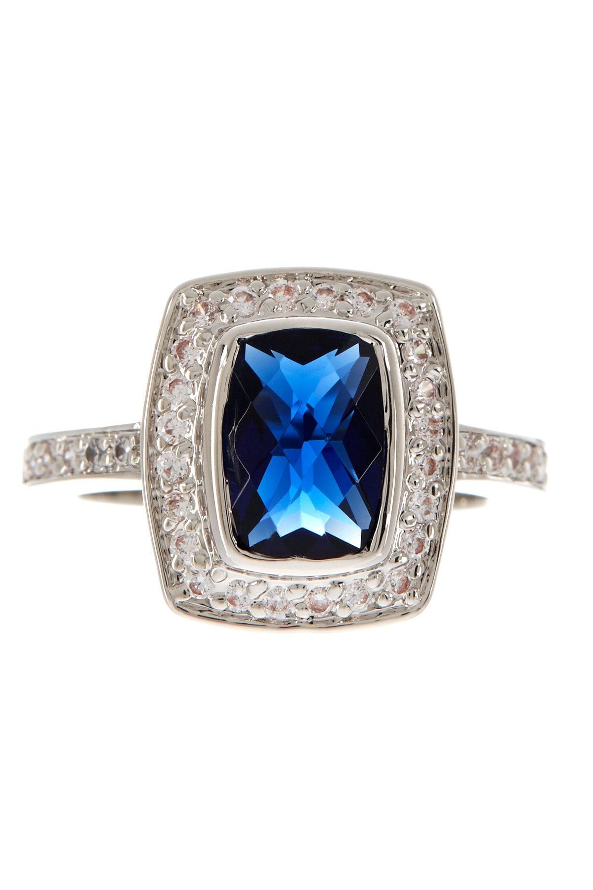 sapphire p ring cocktail diamond c and