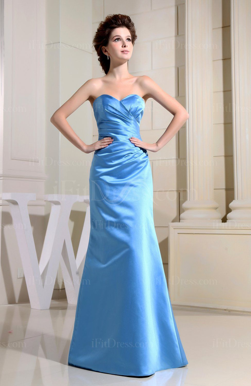 Campanula elegant aline sleeveless floor length ruching bridesmaid