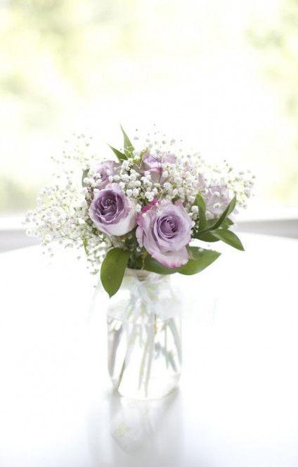 47 Ideas Wedding Table Purple Flowers Mason Jars #purpleweddingflowers