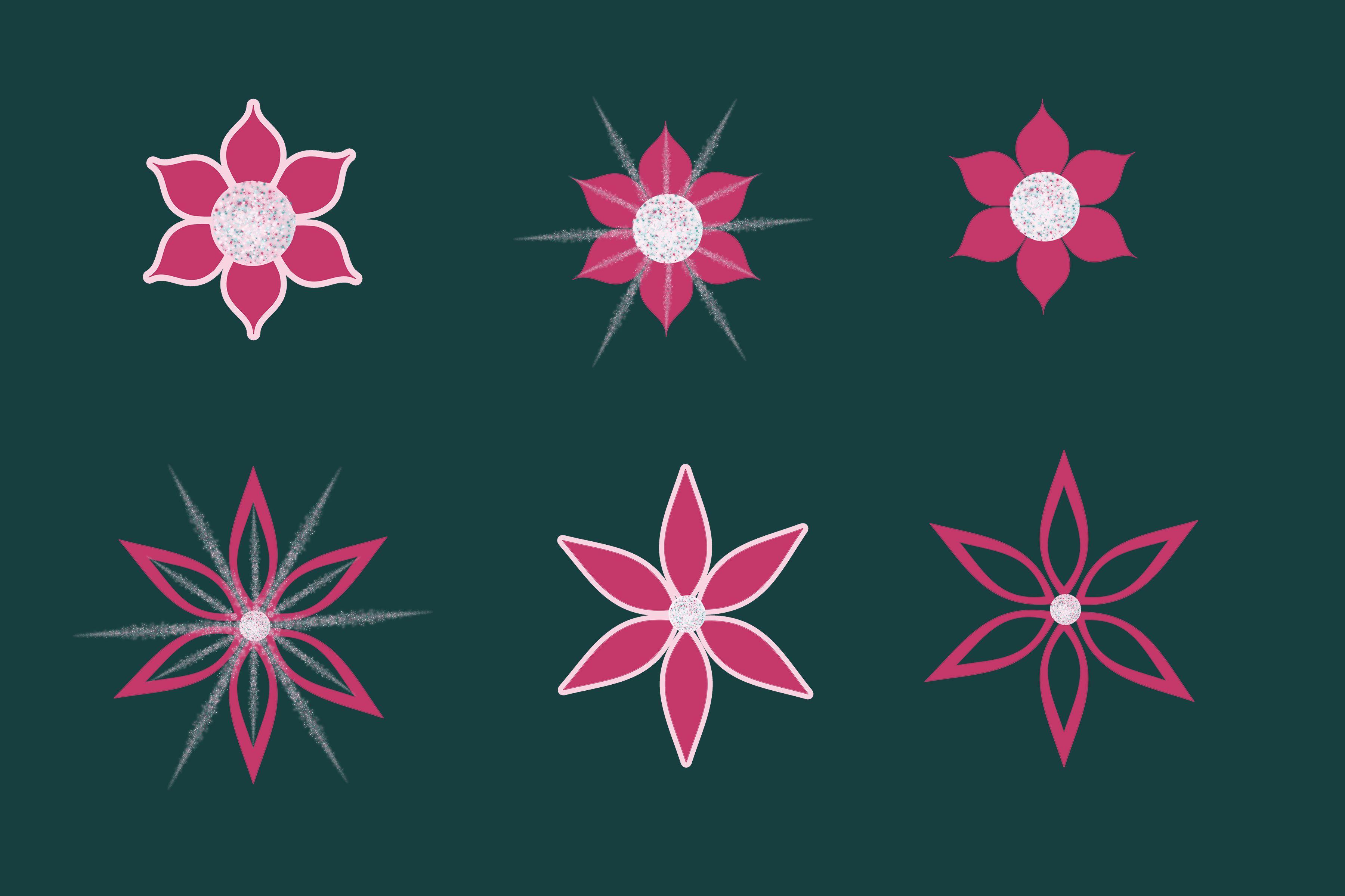 6 Pink Frozen Fever Flower Overlays Festa Frozen Fever Festa