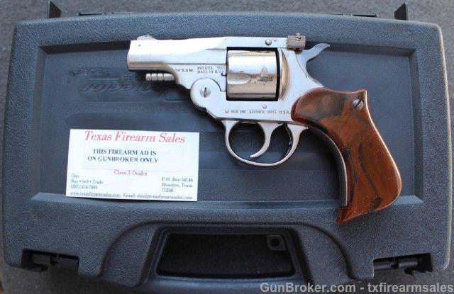 H&R 935 Defender Top Break Nickel .38 S&W Revolver | Clasic Cowboys ...