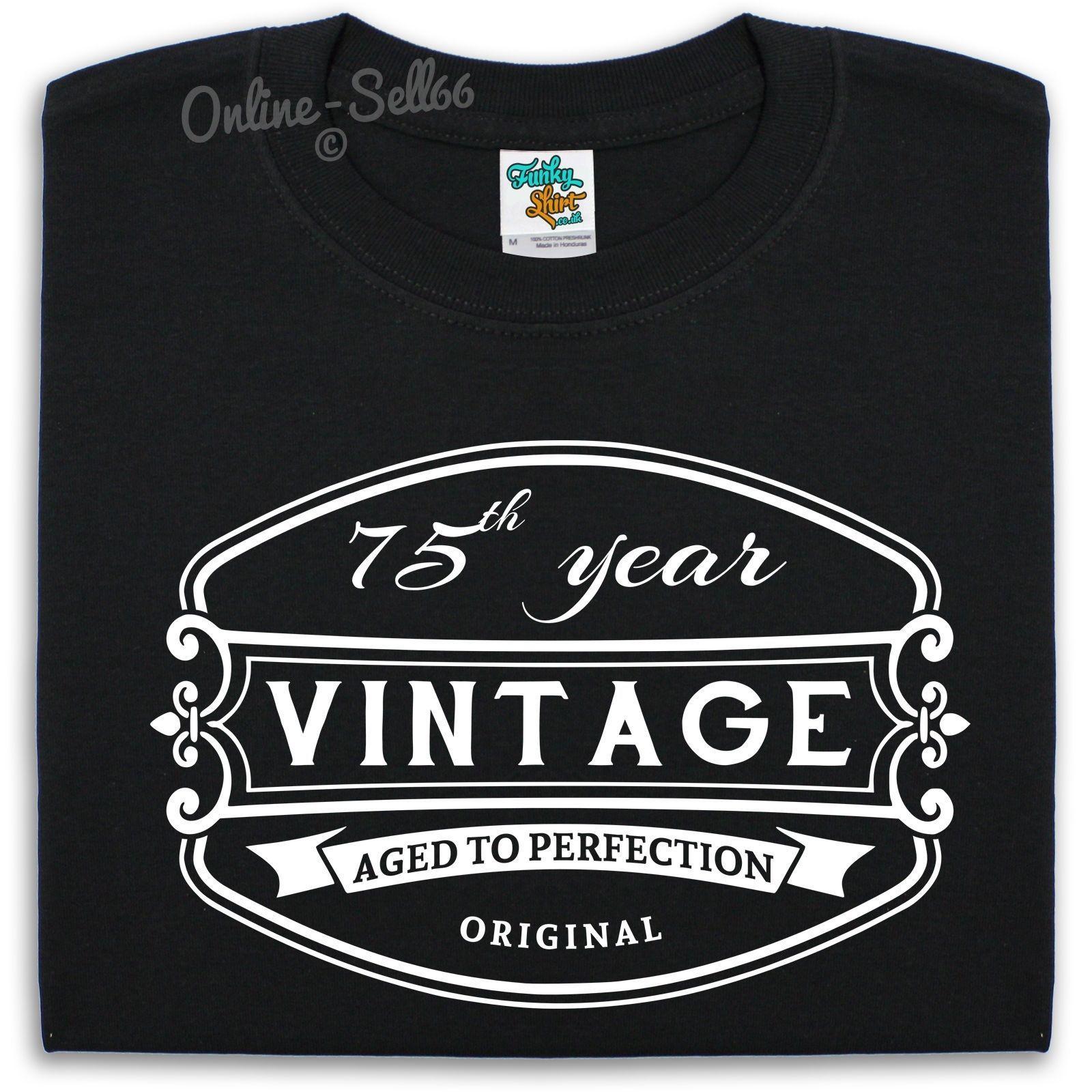 75 th vintage birthday mens t shirt 76 77 78 79 gift