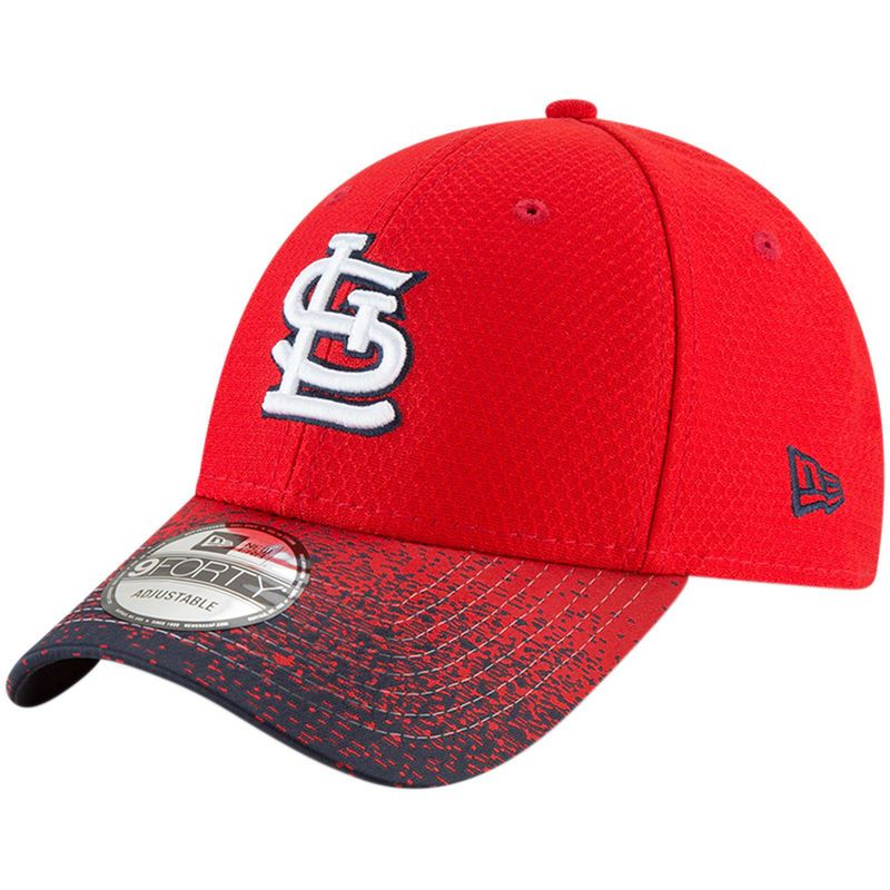033da0c0 St. Louis Cardinals New Era Visor Blur 9FORTY Adjustable Hat - Red ...