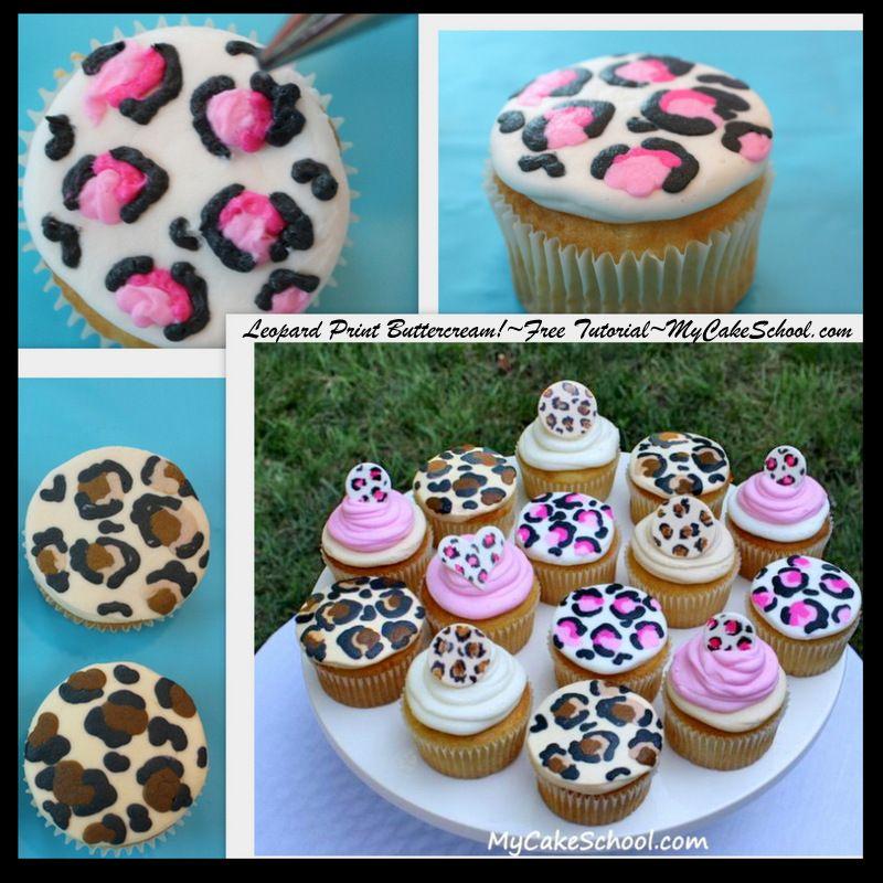 Leopard Print Cupcakes~Free Blog Tutorial!