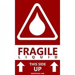 Fragile Liquid This Side Up Labels | LabelValue Labels | Fragile