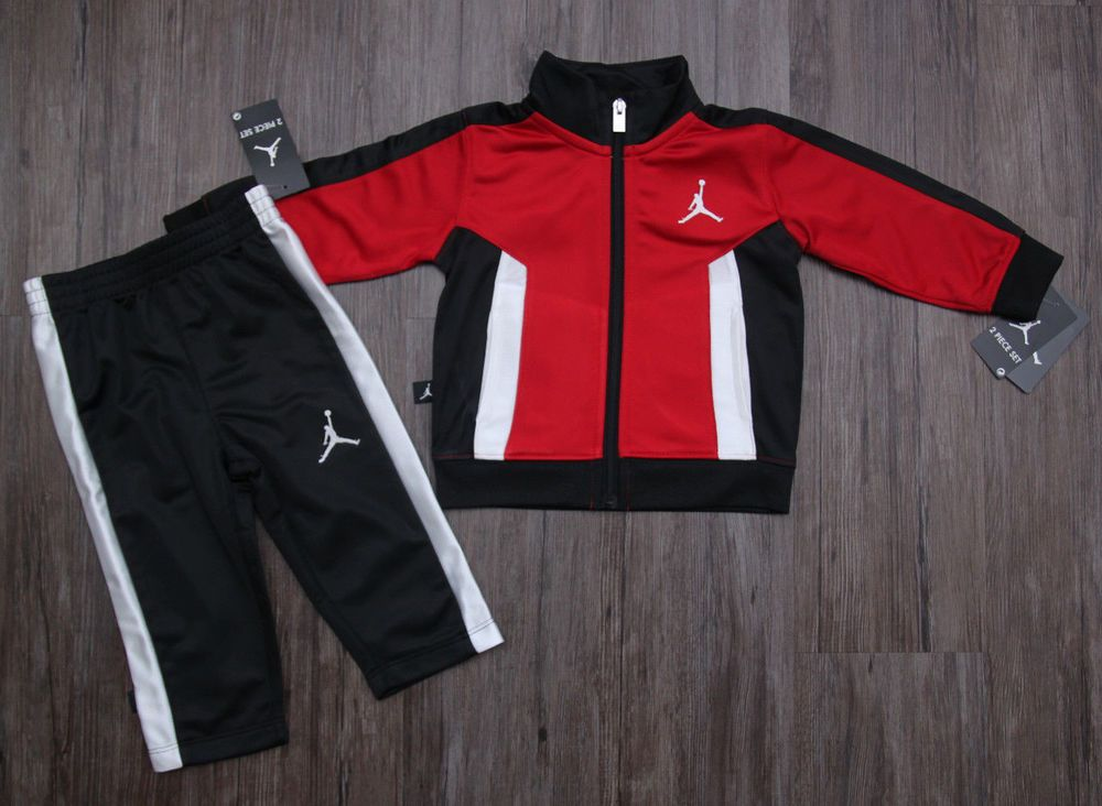 d3c08d03a9f472 Air Jordan Baby Boy 2 Piece Jogging Set~ Tracksuit ~ Red