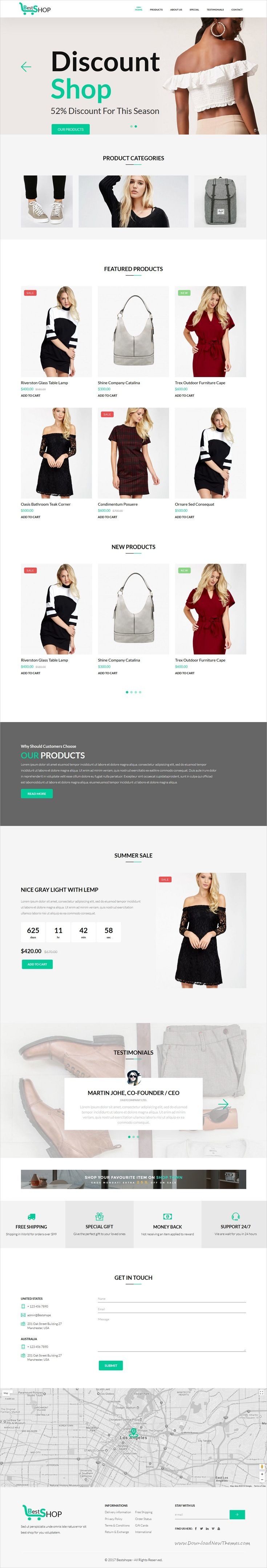 Bestshop One Page Mini Ecommerce Shop Templates Ecommerce Shop Ecommerce Templates