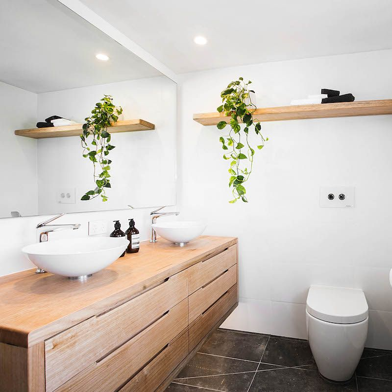 Bathroom #theblock #theblockshop - Love The Timber And Vanity