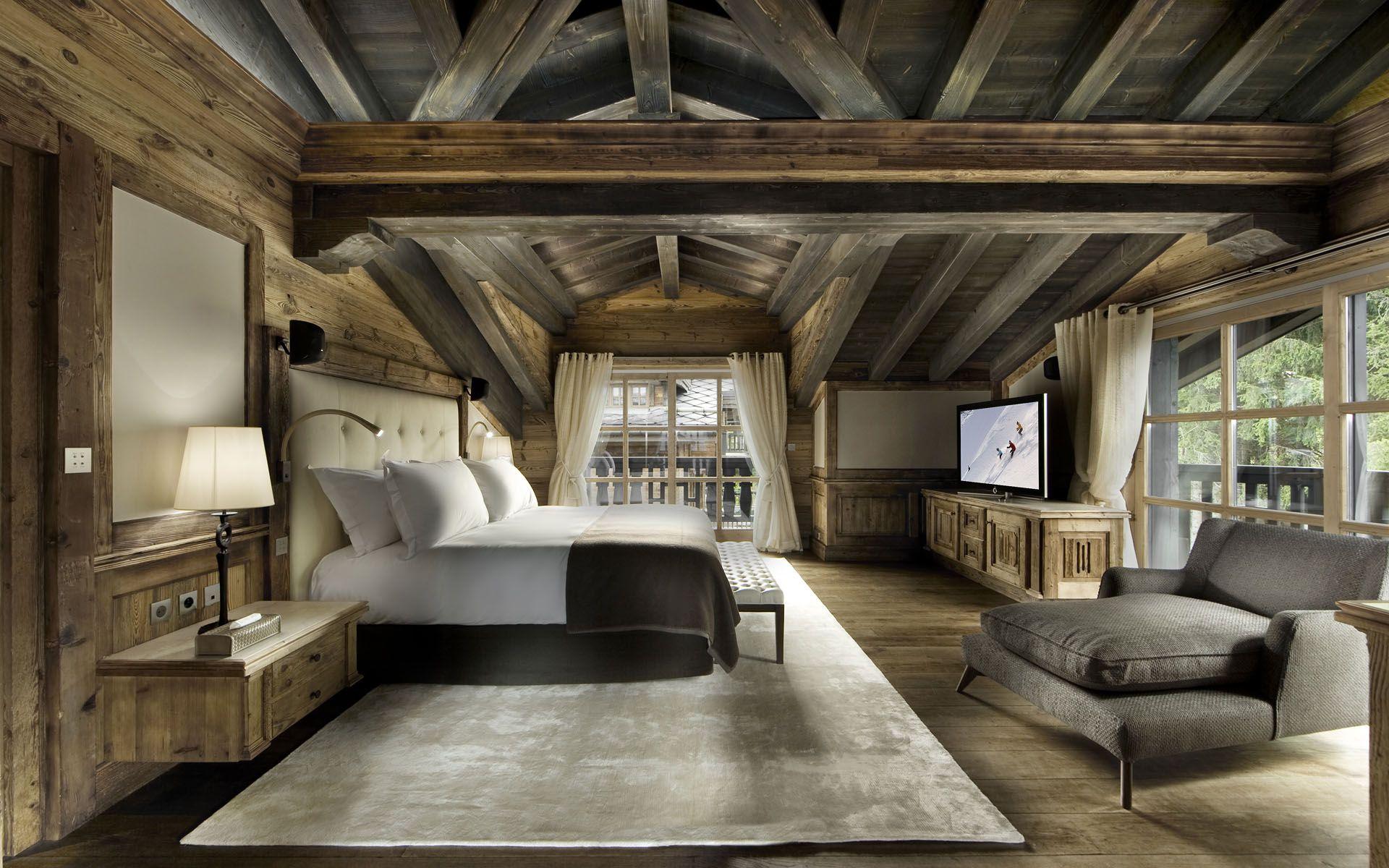 Double Rideaux Style Chalet structure de bois / recouvrement de bois / mobilier