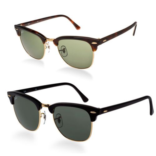 46e9d12af5 Ray-Ban RB3016 Classic Clubmaster Sunglasses Color   Size Variations   Clothing