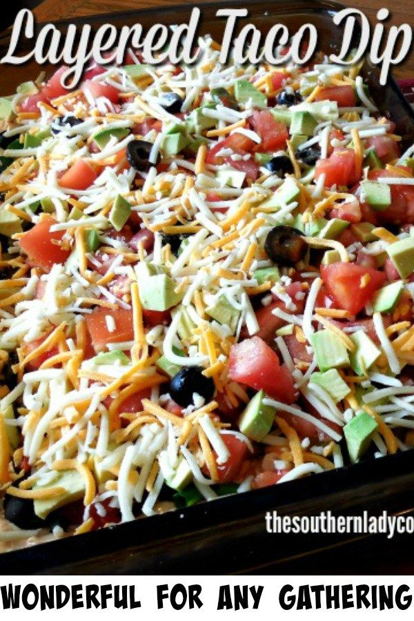 Layered Taco Dip-The Southern Lady Cooks versatile recipe mexican