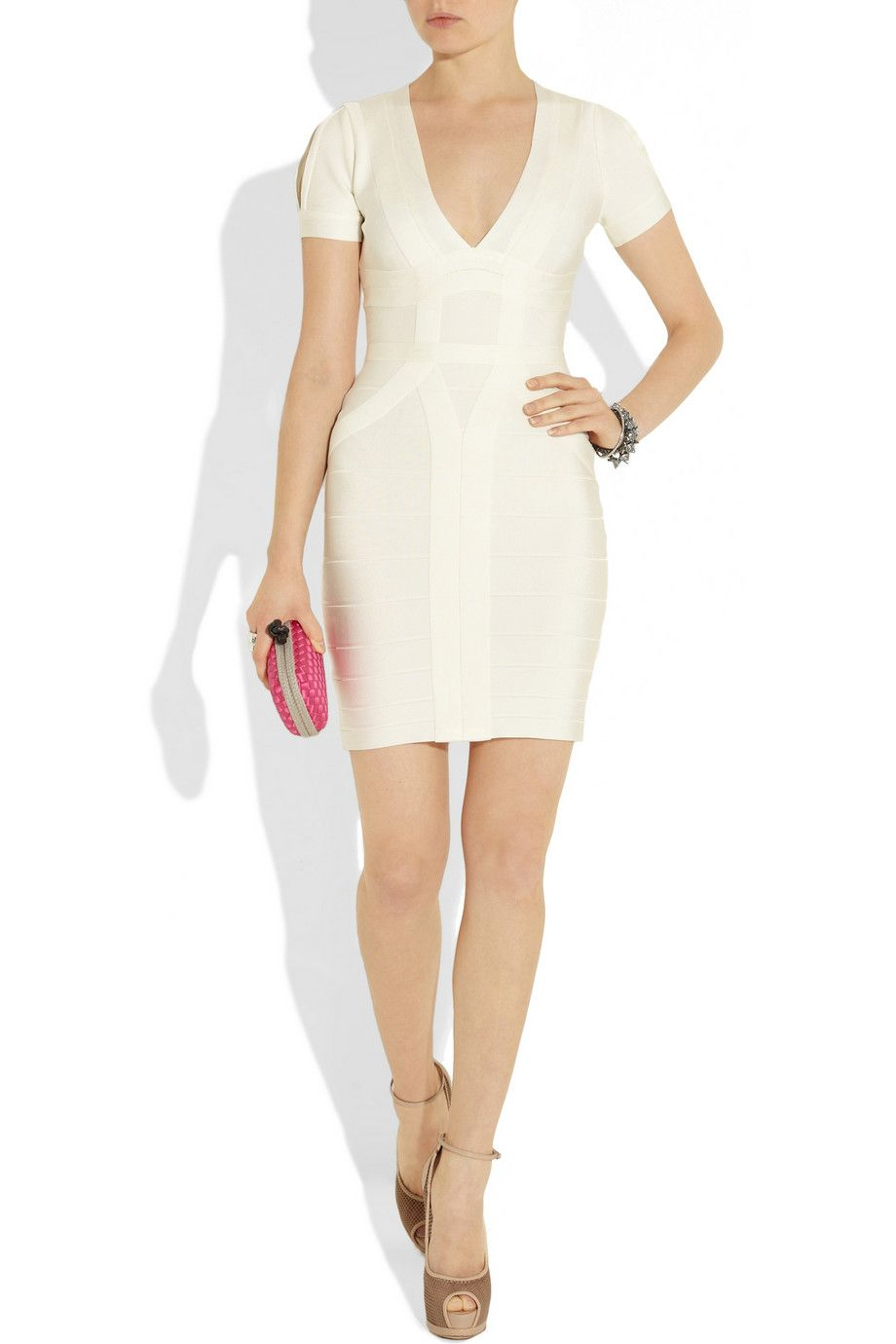 Hervé léger cutout bandage dress dresses pinterest