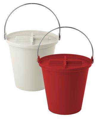 Authentics H2o Bin Red Made In Design Uk Plastic Buckets Steel Handle Food Animals