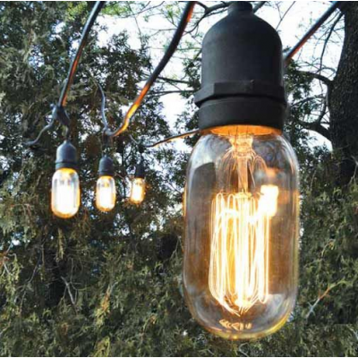 Outdoor Café String Lights Commercial Market Lighting By Barn Electric