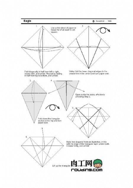 origami eagle 1 origami pinterest origami eagle and origami rh pinterest com origami eagle instructions hard origami eagle instructions step by step