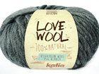 """Alpaka Wolle, """"Love Wool"""" Katia col.107 Antracite"""