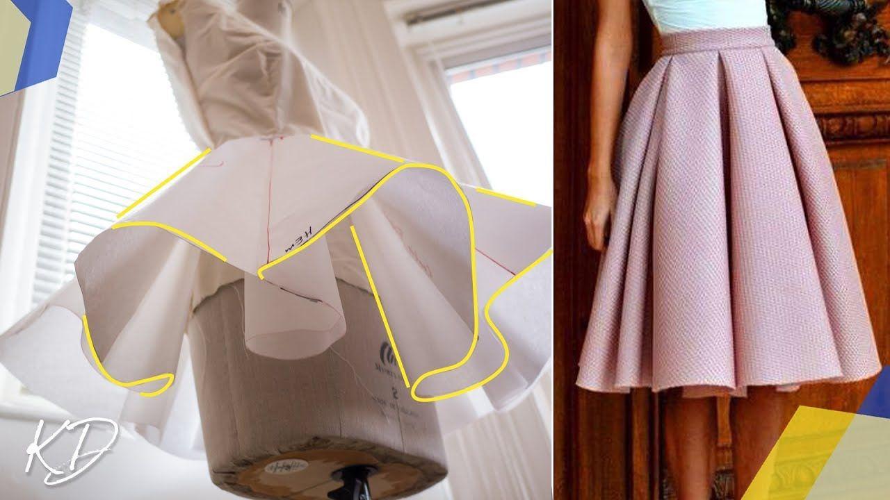 How To Draft Box Pleated Circle Skirt Pattern Kim Dave Circle Skirt Pattern Pleated Skirt Pattern Diy Skirt
