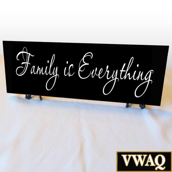 Family Is Everything Wood Sign Family Home Decor Black Sign White Letters Stand Included Bw2 Family Wood Signs Wood Signs Black Decor
