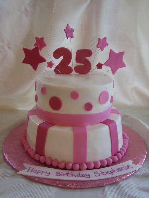 Pleasant 25Th Birthday Cake 25Th Birthday Cakes Cool Birthday Cakes Birthday Cards Printable Nowaargucafe Filternl