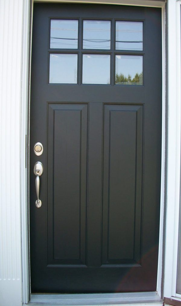 Decoration Inspiring Black Wood Entry Doors With Glass