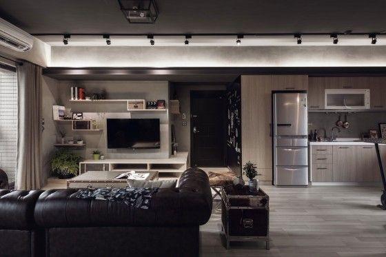 Diseño de departamento de dos dormitorios con planos, tiene - paredes de cemento