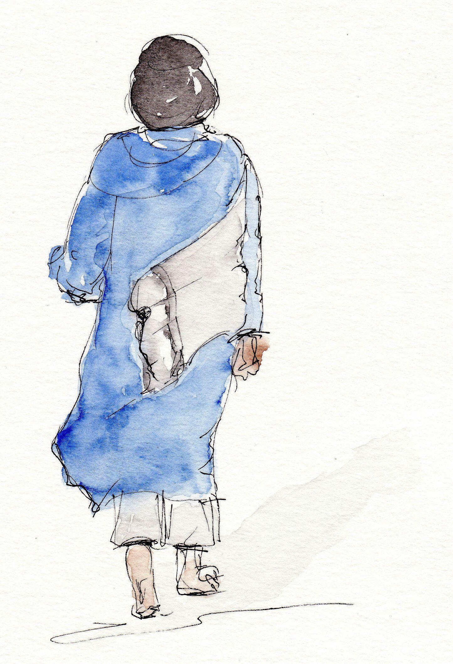 Indian Ink And Watercolour Carnet De Voyage Paysage Aquarelle