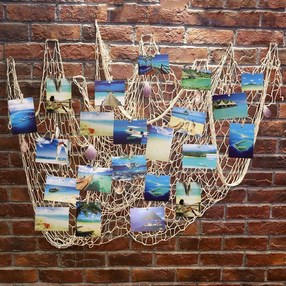 Amazon Com Ecjiuyi Mediterranean Decorative Nautical Fish Net