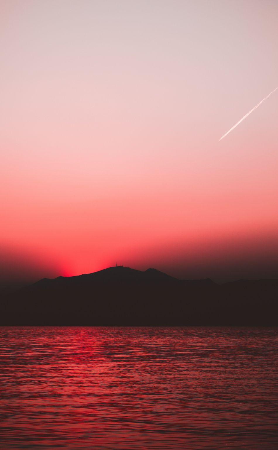 950x1534 Sunset Red Sky Sunset Nature Hill Lake Wallpaper Roze Lucht Lucht Foto Hd wallpaper sunset sky red bridge